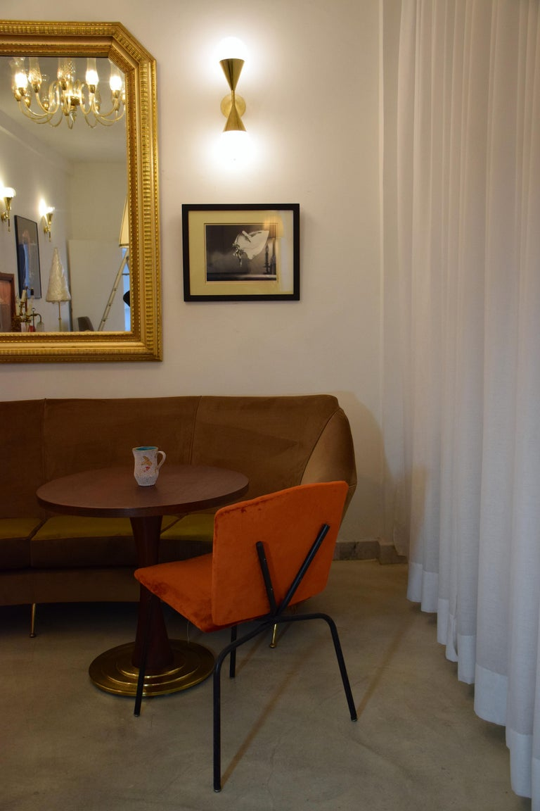 20th Century French Steel Velvet Chairs, 1970s In Good Condition For Sale In Paris, FR