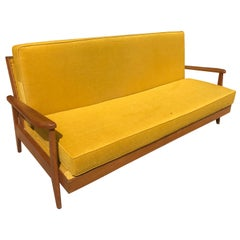 20th Century French Vintage Reupholstered Sofa Bed, 1960s