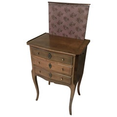 "20th Century French Walnut and Marquetry ""Billet Doux"" Chest of Drawers"