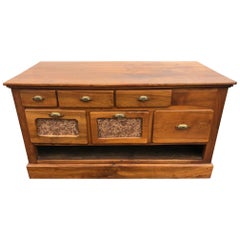 20th Century French Walnut Apothecary Cabinet or Chests of Drawer, 1900s