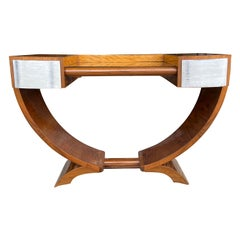 20th Century French Walnut Coiffeuse Vanity Attributed to Émile-Jacques Ruhlmann