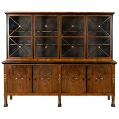 20th Century French Walnut Display Cabinet