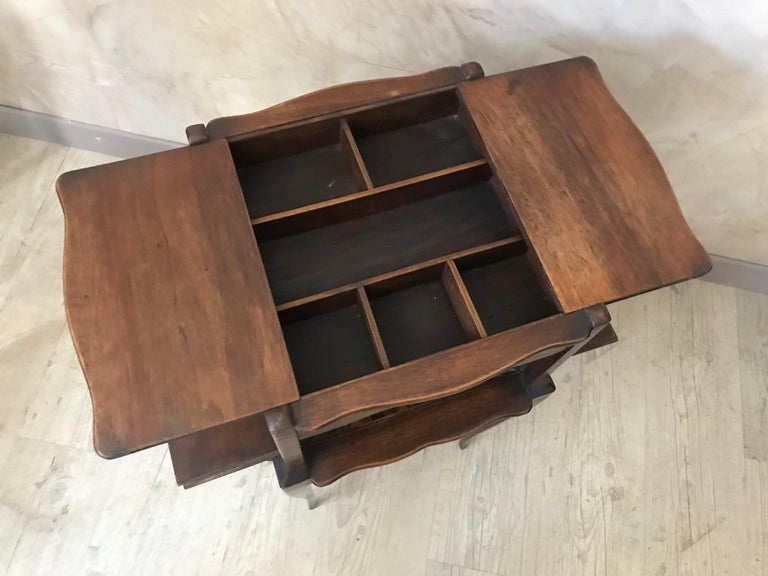 20th Century French Walnut Sewing Table, 1920s For Sale 2