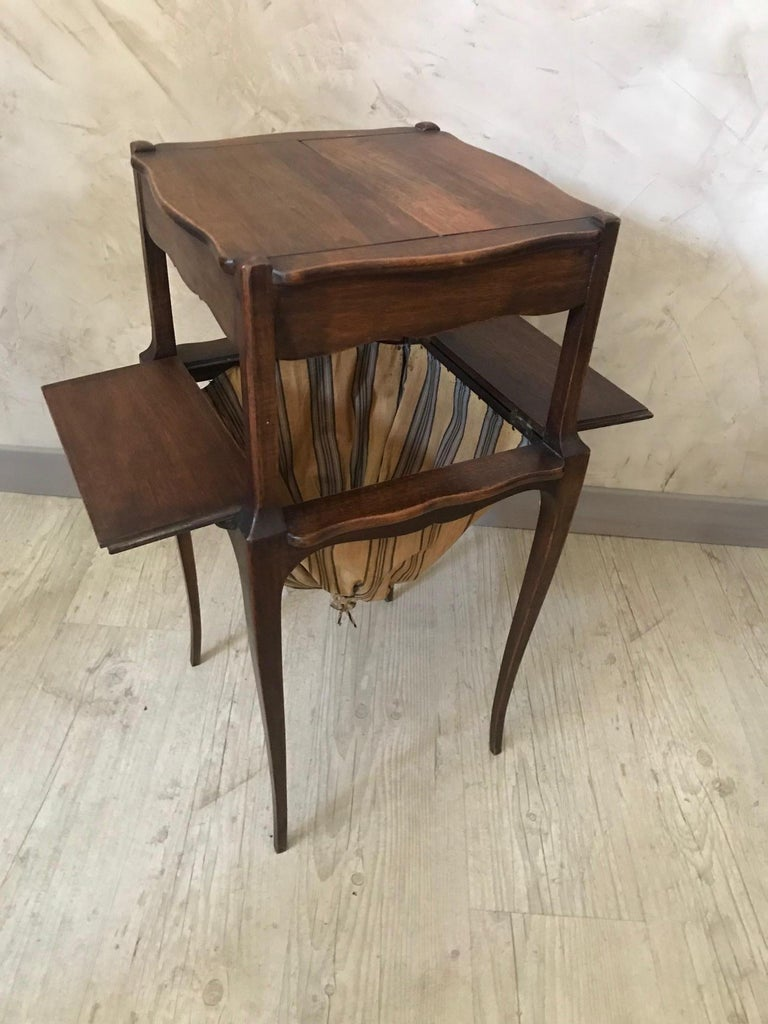 20th Century French Walnut Sewing Table, 1920s For Sale 3