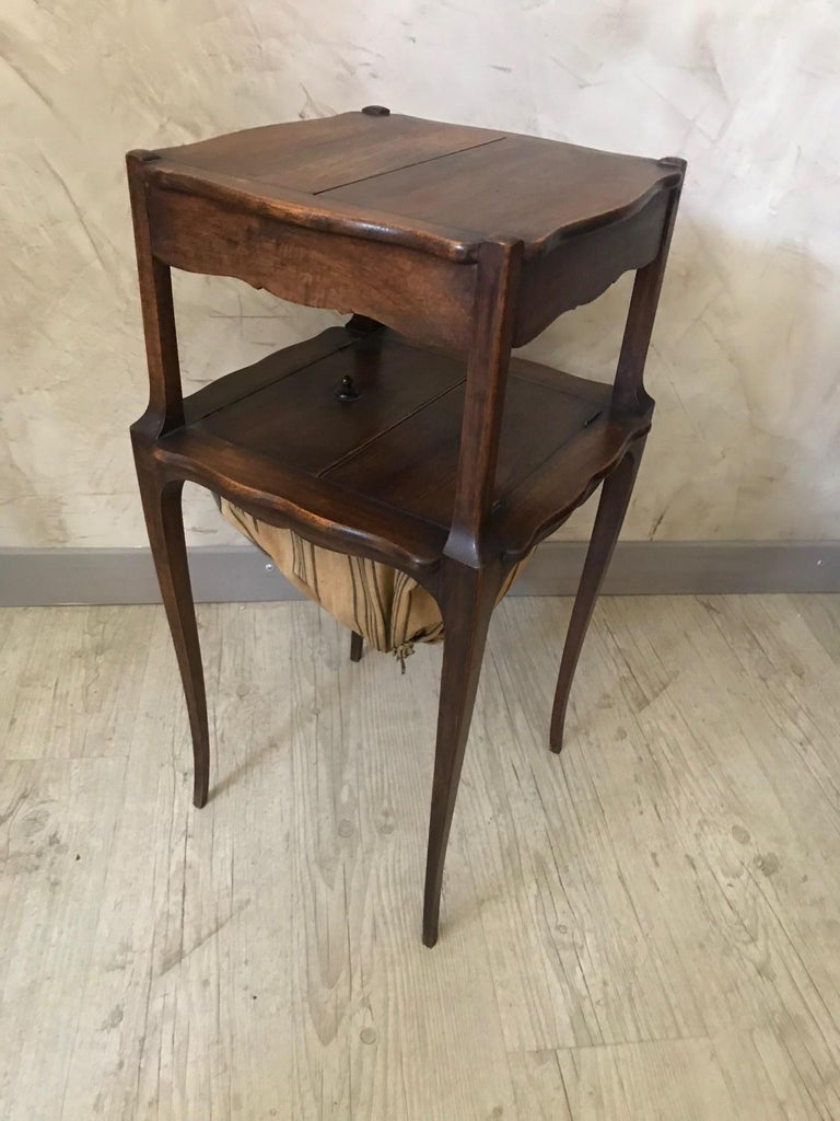 20th Century French Walnut Sewing Table, 1920s For Sale 4