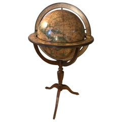20th Century French Wooden and Metal Globe Bar, 1950s