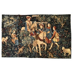 20th Century French Wool Tapestry Attributed to the Aubusson Manufacture