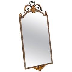 20th Century French Wrought Iron Mirror