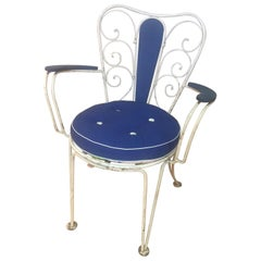20th Century French Wrought Iron Outdoor Chairs, 1950s