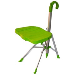 20th Century Gaetano Pesce Umbrella Chair Folding and transportable Green