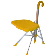 20th Century Gaetano Pesce Umbrella Chair Folding and Transportable Yellow