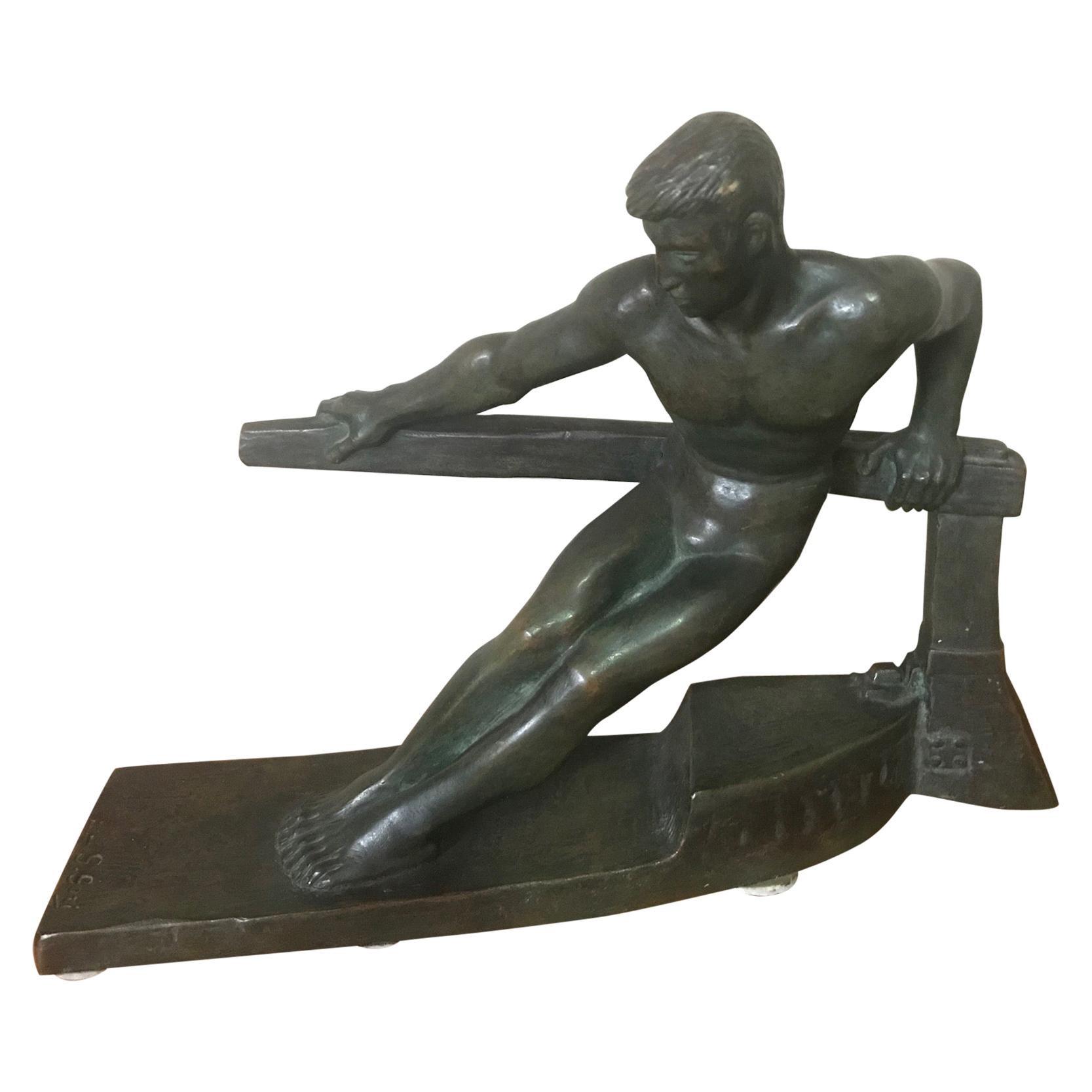 20th Century George Gori Art Deco Bronze Sculpture, 1930s