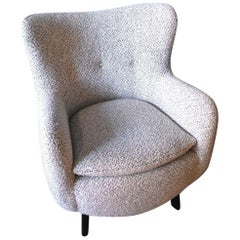 20th Century George Nelson for Herman Miller Lounge Chair, Newly Upholstered