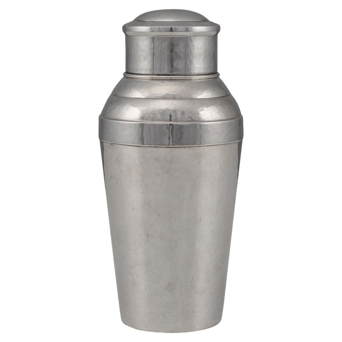 20th Century German Art Deco Solid Silver Cocktail Shaker, c.1930