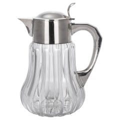 20th Century German Art Deco Solid Silver & Cut Glass Lemonade Jug, c.1920