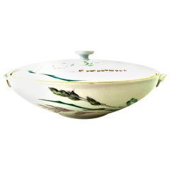 20th Century German Porcelain and 22-Karat Gold Covered Tureen by Heinrich