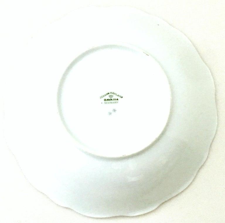 20th Century German Porcelain & Platinum Dinnerware Set of 18 by Johann Haviland For Sale 7