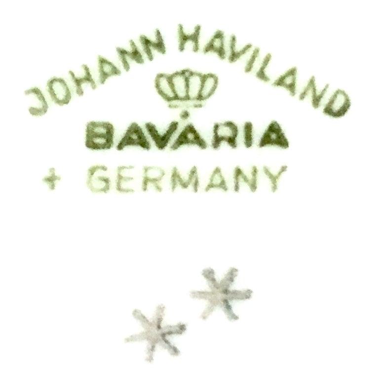 20th Century German Porcelain & Platinum Dinnerware Set of 18 by Johann Haviland For Sale 8