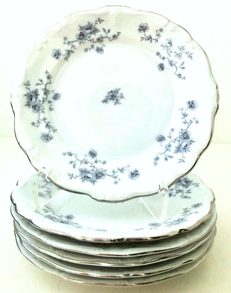 20th Century German Porcelain & Platinum Dinnerware Set of 18 by Johann Haviland For Sale 2