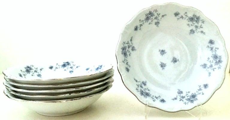 20th Century German Porcelain & Platinum Dinnerware Set of 18 by Johann Haviland For Sale 3