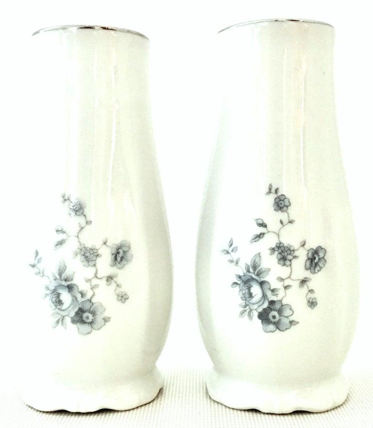 20th Century German Porcelain & Platinum Dinnerware Set of 21 by Johann Haviland For Sale 6