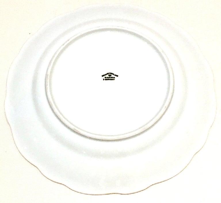20th Century German Porcelain & Platinum Dinnerware Set of 21 by Johann Haviland For Sale 11