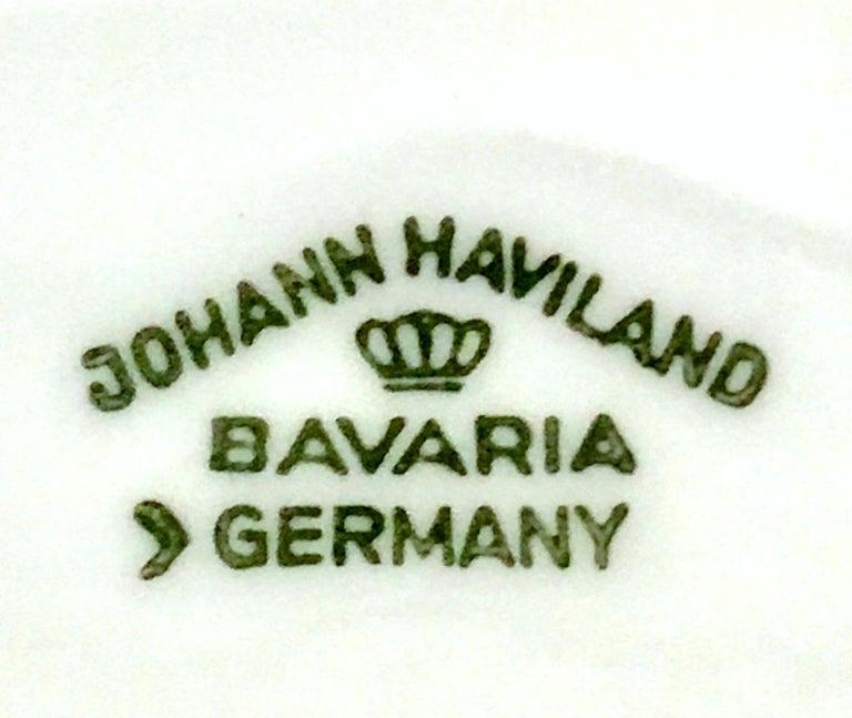 20th Century German Porcelain & Platinum Dinnerware Set of 21 by Johann Haviland For Sale 12