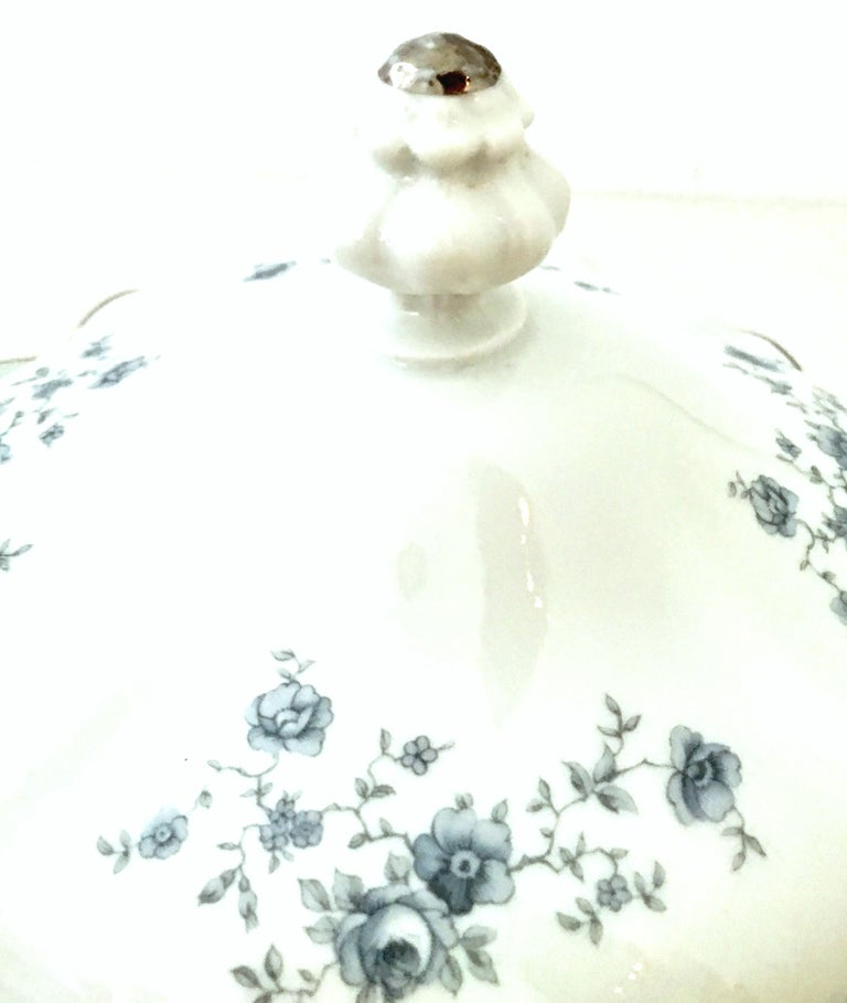 20th Century German Porcelain & Platinum Dinnerware Set of 21 by Johann Haviland For Sale 2