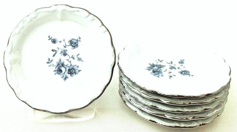 20th Century German Porcelain & Platinum Dinnerware Set of 21 by Johann Haviland For Sale 4