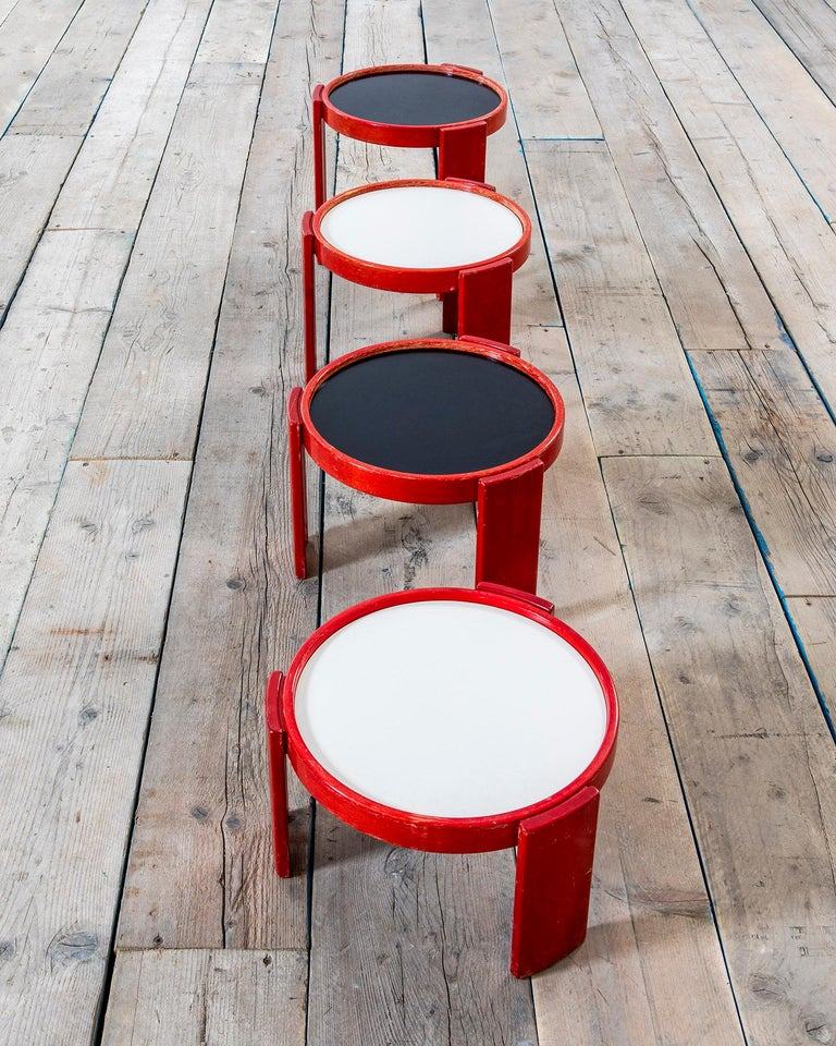 Mid-Century Modern 20th Century Gianfranco Frattini Low Tables 780/783 for Cassina For Sale