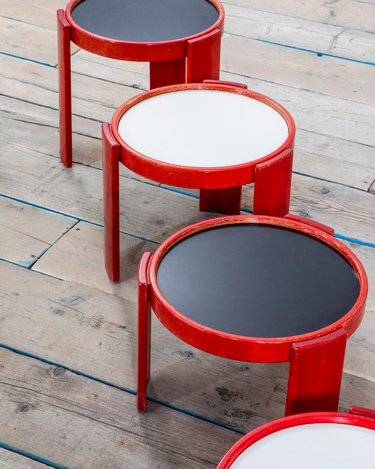 Italian 20th Century Gianfranco Frattini Low Tables 780/783 for Cassina For Sale