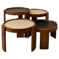 20th Century Gianfranco Frattini Low Tables 780/783 for Cassina