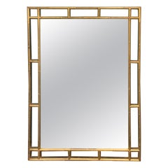 20th Century Gilt Bamboo Wall Mirror