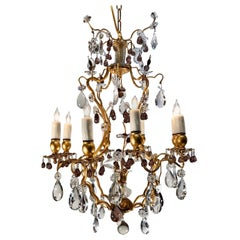 20th Century Gilt Bronze and Crystal Italian Chandelier