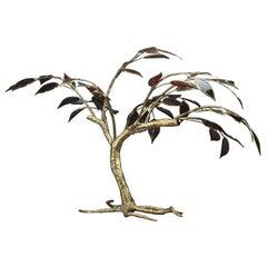 20th Century Gilt Bronze Tree Sculpture
