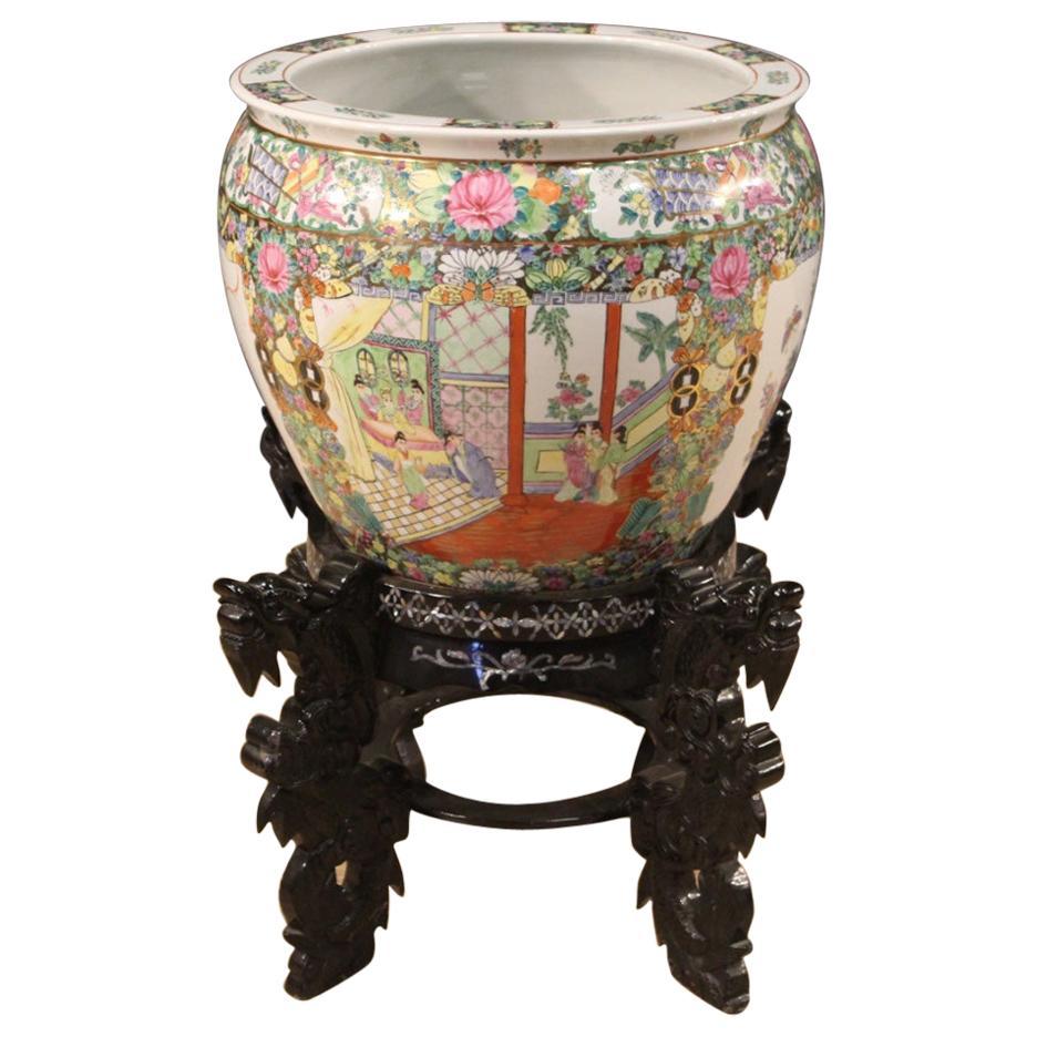 20th Century Gilt Painted Glazed Ceramic Chinese Vase, 1970