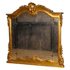 20th Century Giltwood and Plaster Italian Mirror, 1960