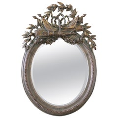 20th Century Giltwood Carved Mirror with Bevel