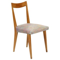 20th Century Giò Pinti Dinner Chair Wooden Structure and Fabric