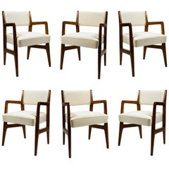 20th Century Gio Ponti Six Chairs Designed for Augustus Motorboat by Cassina