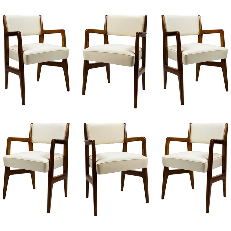 20th Century Gio Ponti Six Chairs Designed for Augustus Motorboat by Cassina For Sale