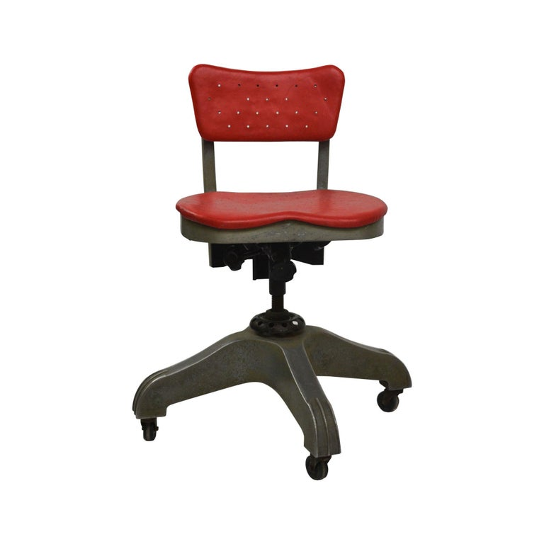 Mid-Century Modern 20th Century Gio Ponti Swivel Chair for Montecatini Office for Kardex For Sale