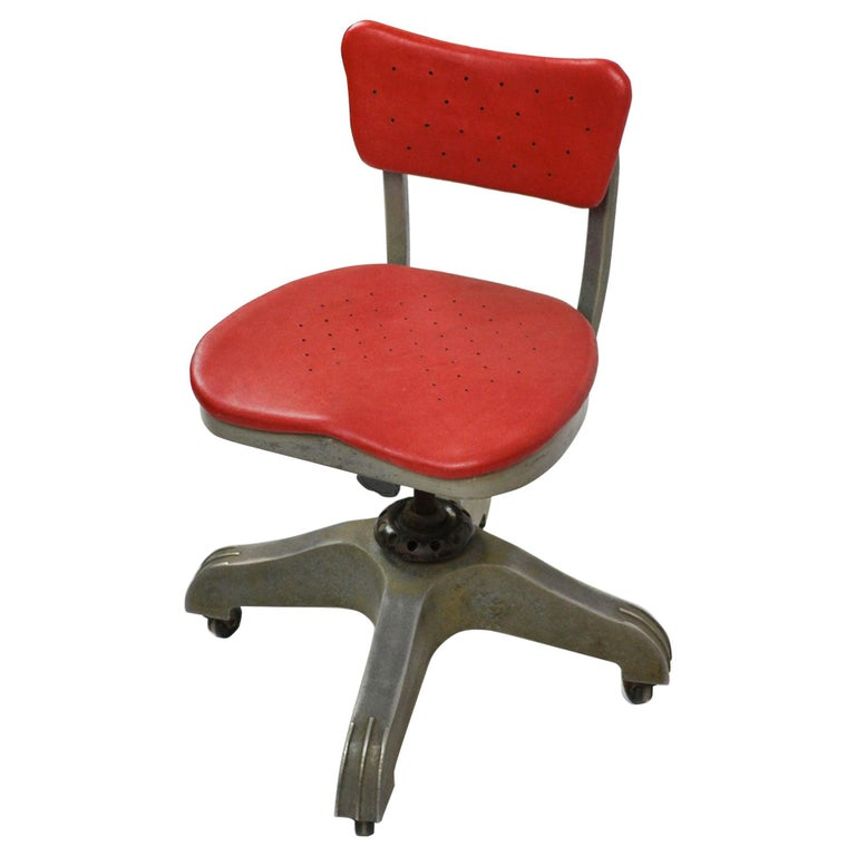 20th Century Gio Ponti Swivel Chair for Montecatini Office for Kardex For Sale