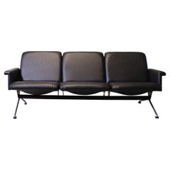 20th Century Gispen Black Sofa 1715 by Andre Cordemeyer, 1961