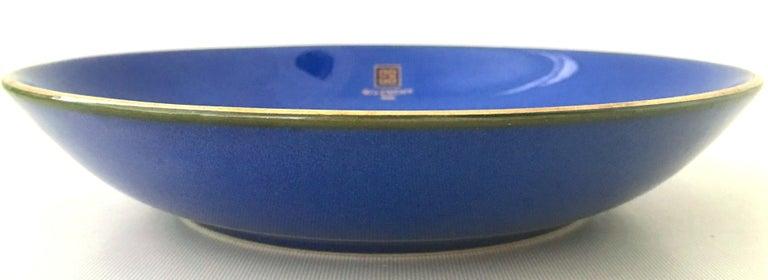French 20th Century Givenchy Paris Porcelain Cobalt Enamel & 22k Gold Bowl For Sale
