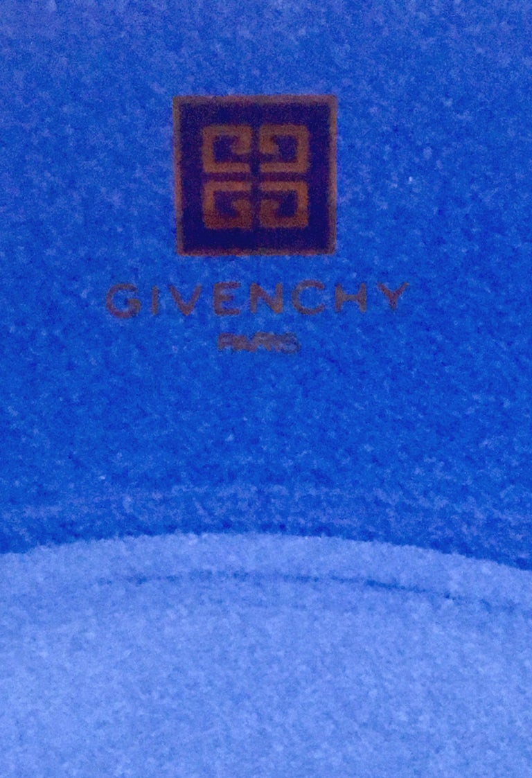 20th Century Givenchy Paris Porcelain Cobalt Enamel & 22k Gold Bowl For Sale 4