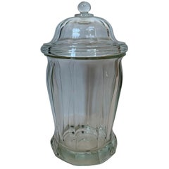 20th Century Glass Candy Jar with Lid