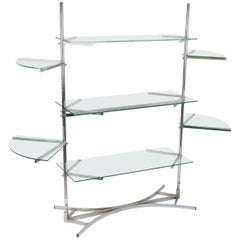 20th Century Glass Storage Rack
