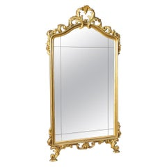 20th Century Gold and Carved Wood Italian Mirror, 1960
