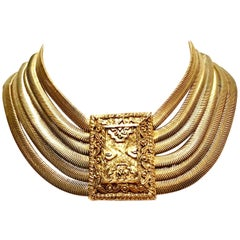 20th Century Gold Choker Necklace By, Les Bernard Inc.